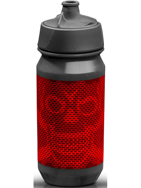 rie:sel design bot:tle Drink Bottle 500ml grey/red